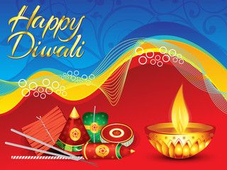 abstract detailed diwali background