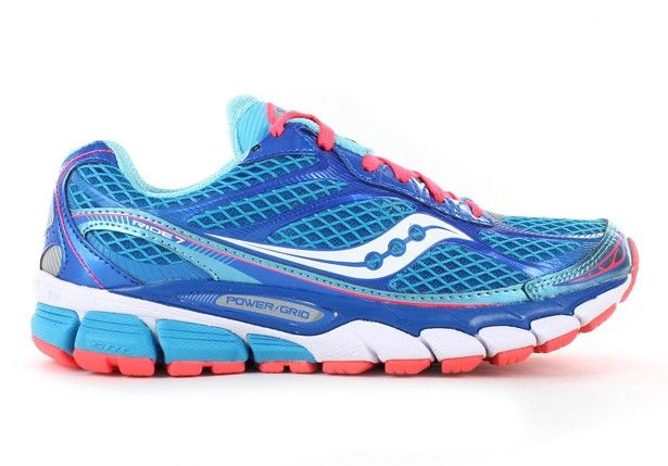 SAUCONY Womens Ride 7 Blue/Vizi Coral - Womens - Cushioned - High Arch Fit
