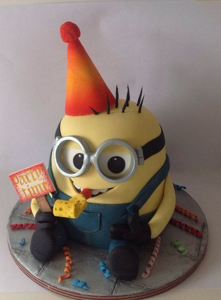 Party Time Minion Cake by Lynnsmith