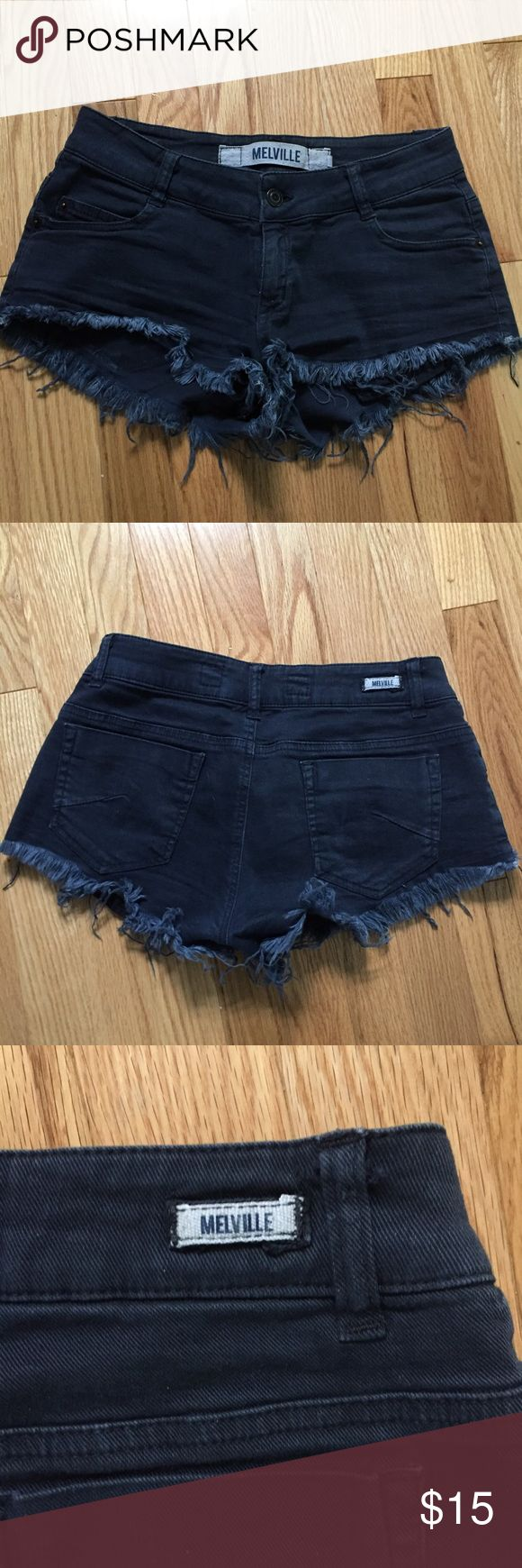 Brandy Melville Navy Shorts Bought these at the Florence, Italy BM. I love these but sadly they no longer fit me. Melville size 38, fits like a small. Brandy Melville Shorts Jean Shorts
