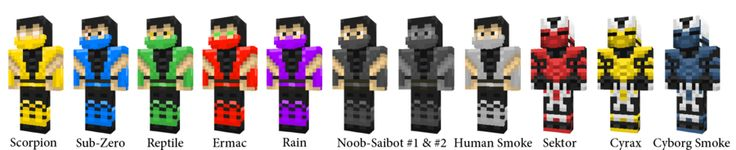 mindcraft mortal kombat | Minecraft Mortal Kombat Skins by ~AwesomeSauceUK on deviantART