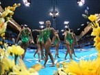 Japan prepare to enter the water / Day 14: Action from the Synchronised Swimming Free Routine final - London 2012 Olympics