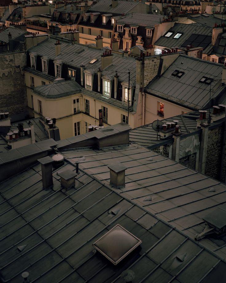 4x5 Large Format Rooftop Photos of Paris at Night Paris