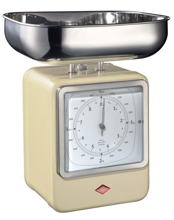 Кухонные весы-часы Retro Style, слоновая кость (117711)