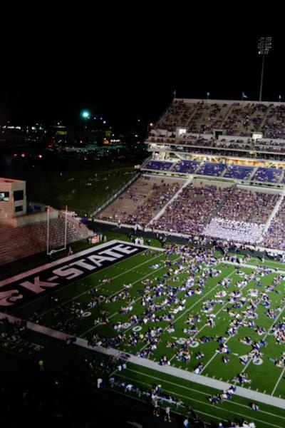 Kansas State University fireworks after the first game