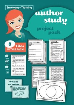 An independent project for an Author Study, as well as supporting documents and templates.8 files1 x author study biography (pdf)1 x independent project (pdf)2 x lesson sequence options (pdf)1 x student checklist for author study (pdf)1 x teacher assessment rubric (pdf & word)1 x What is an author study? (PPTX)1 x Venn diagram (pdf)