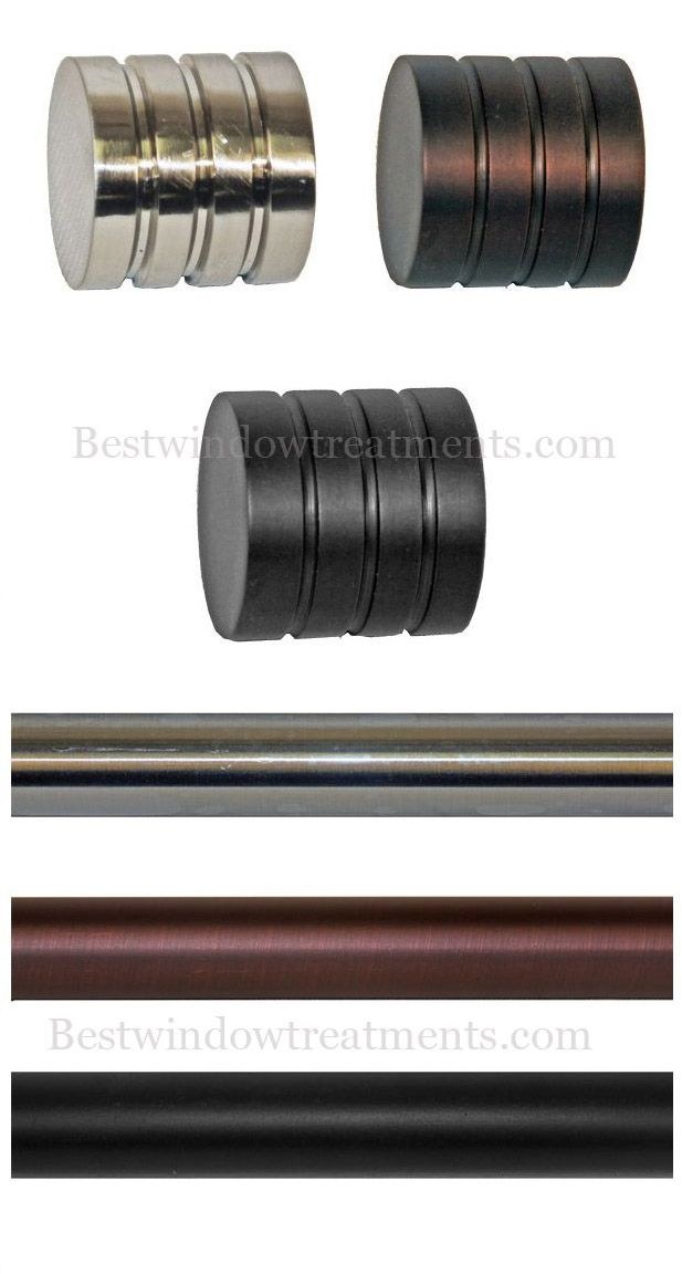 Custom Tech Ribbed Modern Curtain Rod Set - 4 foot wide | Bestwindowtreatments.com