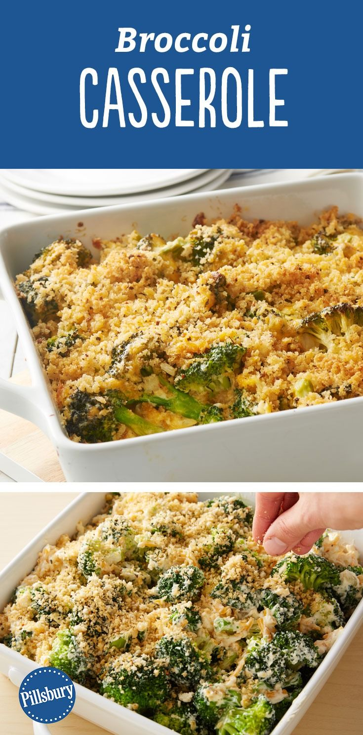 Broccoli Casserole - This cheesy broccoli casserole is freshened up with sautéed broccoli and garlic and finished with a crispy bread crumb topping. Perfect for holidays or even a weeknight veggie side dish.