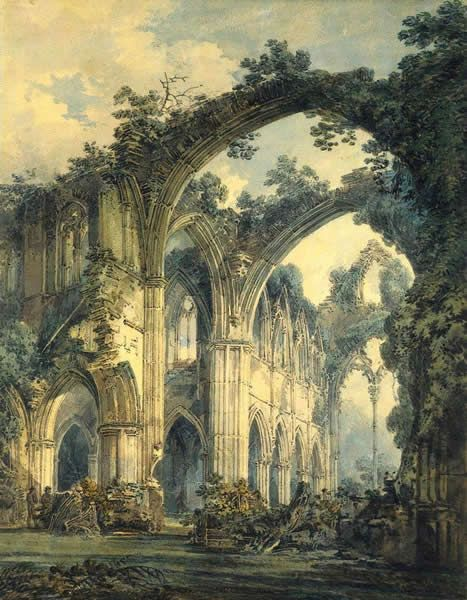 J.M.W. Turner, Tintern Abbey, the transept, around AD 1795, British Museum.