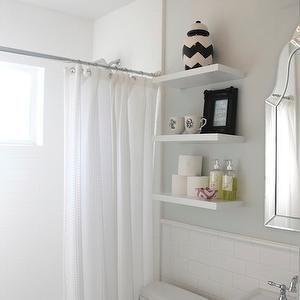 Chevron Canister - Transitional - bathroom - Benjamin Moore Horizon - 346 Living