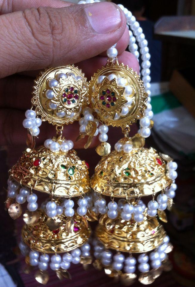 Multani Jhumkay double layer  Made By:Kaahif Kundan  Email kashifkundan@yahoo.com Mobile whatsaap viber IMO 00923002090060