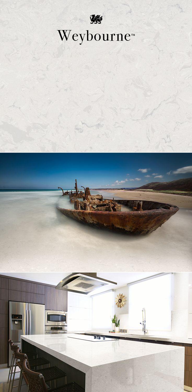 Cambria clyde kitchen and bathroom countertop color - Weybourne By Cambria Quartz