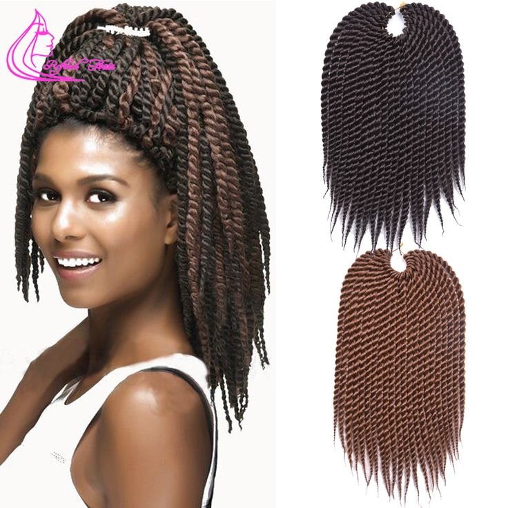 """Promosyon Afro Büküm Tığ Saç Sentetik Tığ Örgü Saç Uzantıları 75 g/paket 12 """"Havana Mambo Büküm Tığ Örgüler"""