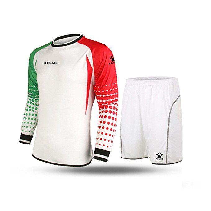 Kelme Football Goalkeeper Long Sleeve Suit Soccer Jersey Set Clothing Football Jersey New Jersey Foot Football Uniforms Football Jersey Shirt Football Outfits