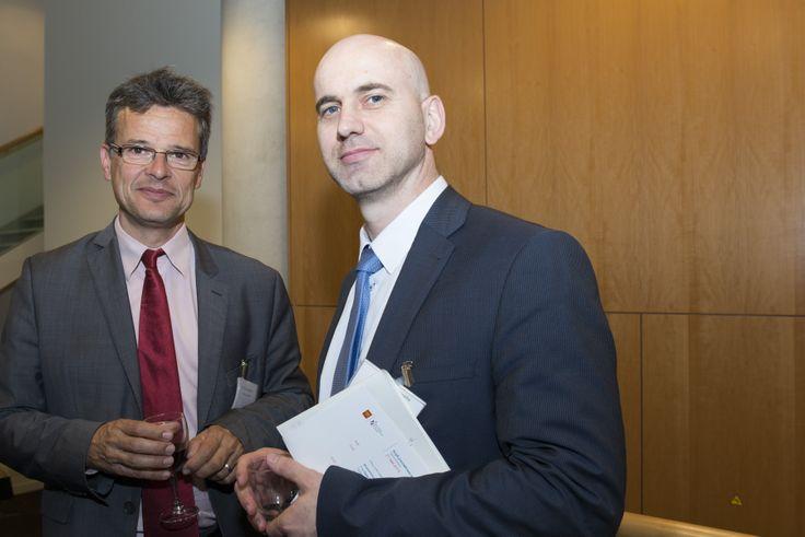 Thilo SCHOENFELD  Délégué aux Affaires Internationales AerospaceValley et Christian GIANELLA, Direction Générale du Trésor
