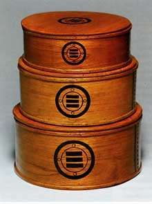 Antique cedar boxes from Meiji period (1868-1912)--from Okinawa, of cedar with lacquer finish