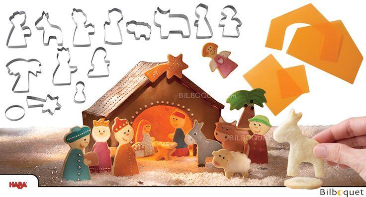 Crèche de Noël en gâteau - Emporte-pièces Cuisine ou Pâte à modeler Haba