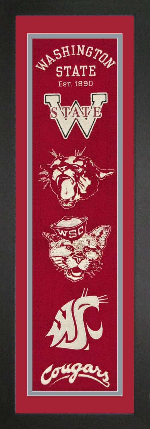 Washington State College NCAA Heritage Banner Framed