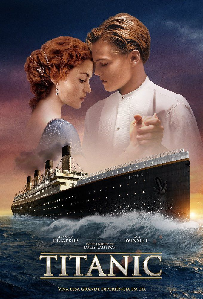 Directed by James Cameron.  With Leonardo DiCaprio, Kate Winslet, Billy Zane, Kathy Bates. A seventeen-year-old aristocrat falls in love with a kind but poor artist aboard the luxurious, ill-fated R.M.S. Titanic.