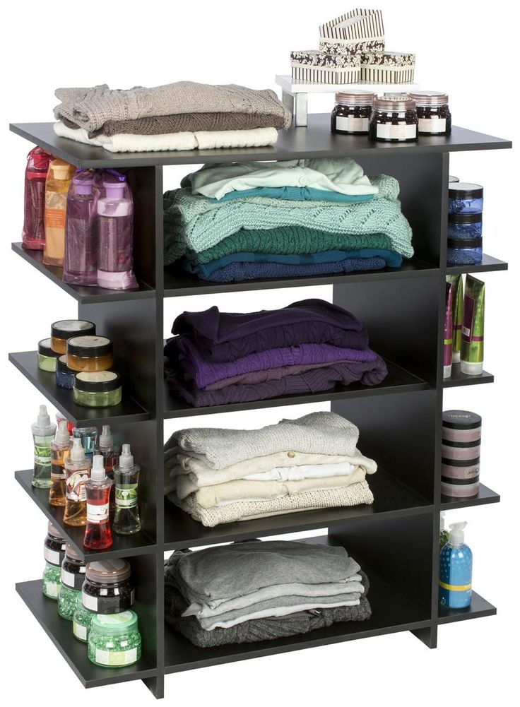 Wood Retail Display | Ships & Stores Flat --  Ideal for closets, laundry rooms, offices or bathrooms!