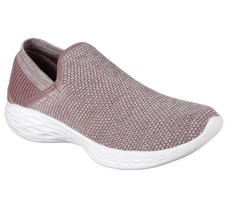 You by skechers®. A new footwear collection combining lifestyle and wellness. Versatile. Active. Comfort, style and flexibility with the YOU by skechers® shoe. Designed to be worn. Soft woven mesh fabric and super flexible knit fabric upper in a slip on sporty walking and comfort athletic shoe with stitching detail. Comfort insole and midsole design.  Knit fabric soft heel panel.
