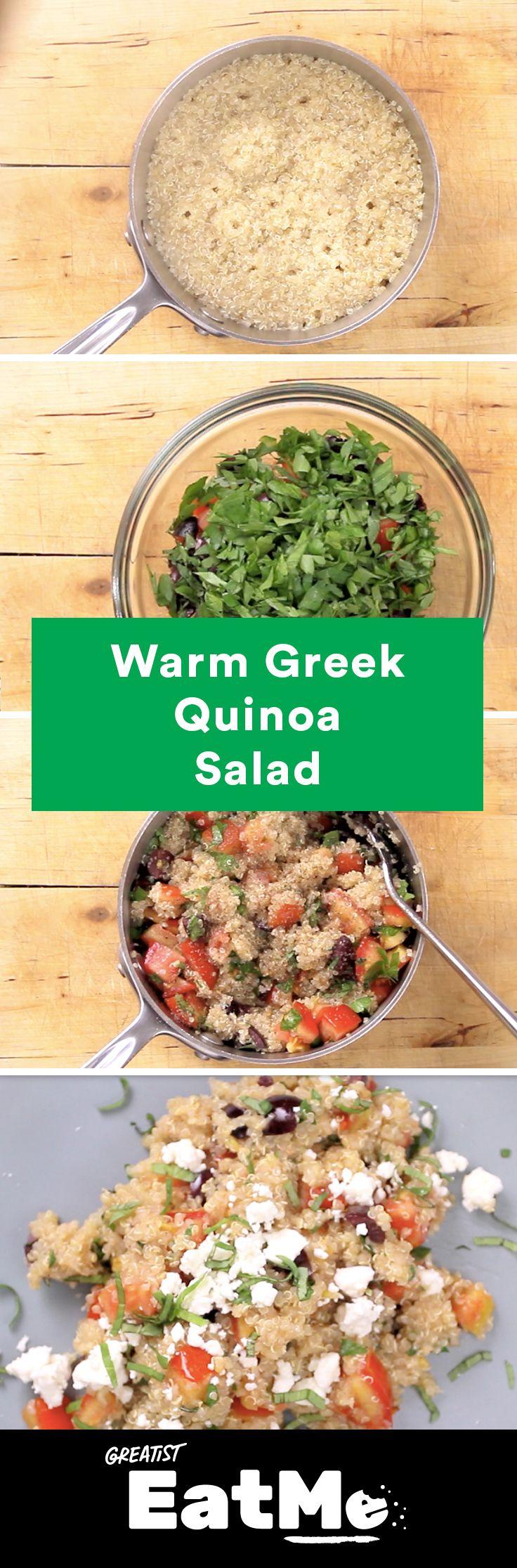 It's all Greek to us. #healthy #quinoa #salad http://greatist.com/eat/quinoa-salad-with-herbs-and-feta-recipe-video