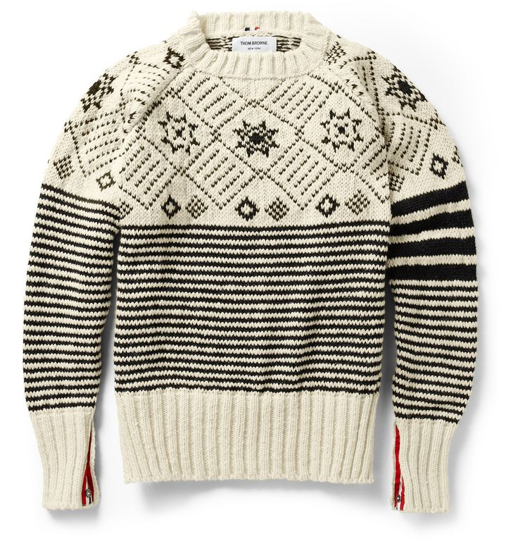 Thom BrowneFair Isle Wool Sweater|MR PORTER