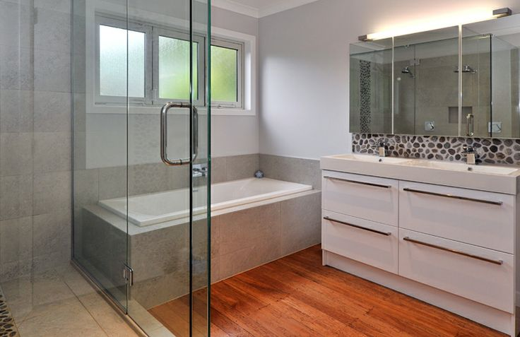 If you have kids and just one bathroom make sure you have a double shower and double vanity to cope with the pressure in the mornings when everyone needs to leave the house at the same time
