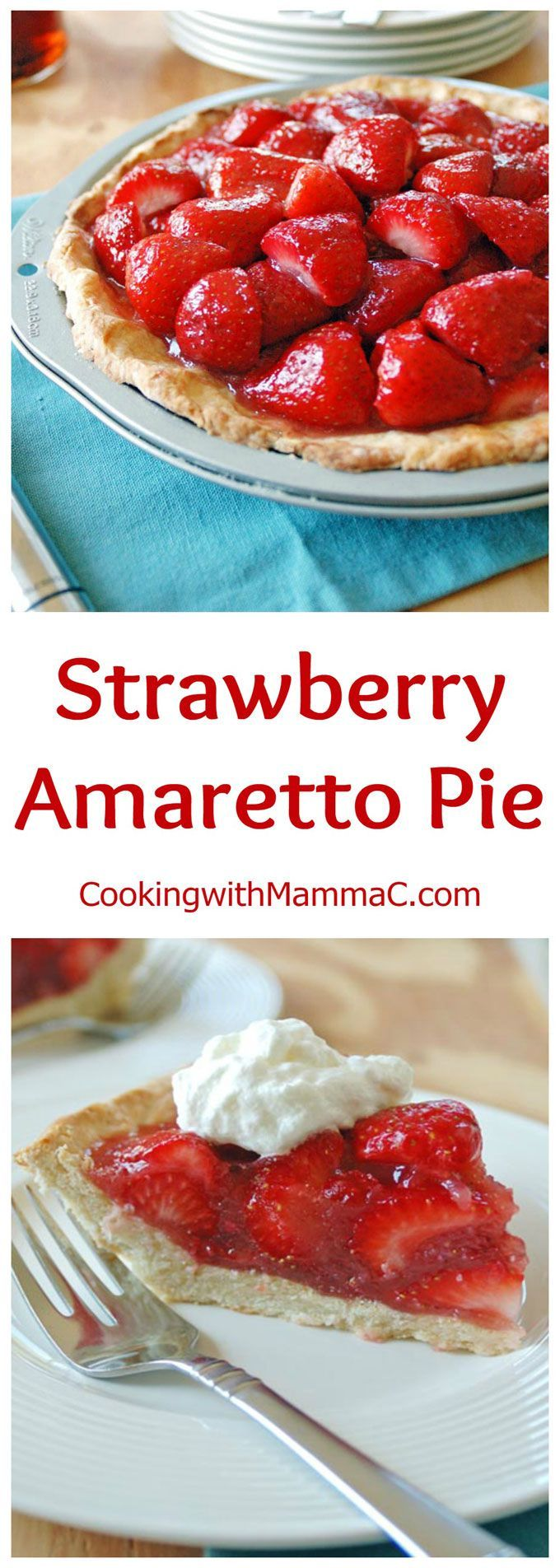Strawberry Amaretto Pie has a no-roll amaretto crust, a strawberry ...