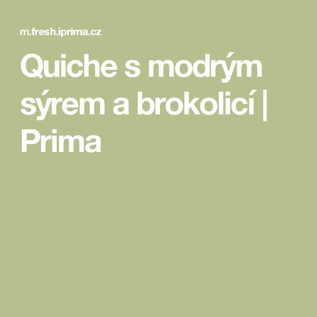 Quiche smodrým sýrem abrokolicí    Prima