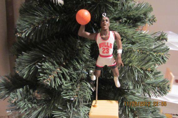 Michael Jordan Chicago Bulls basketball christmas sports ornament many to choose from.. $25.00, via Etsy.