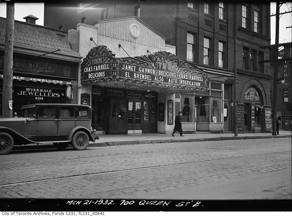 Teck Theatre, Toronto, ON. This is an old photo of the Jilly's building -an old photo of Jilly's