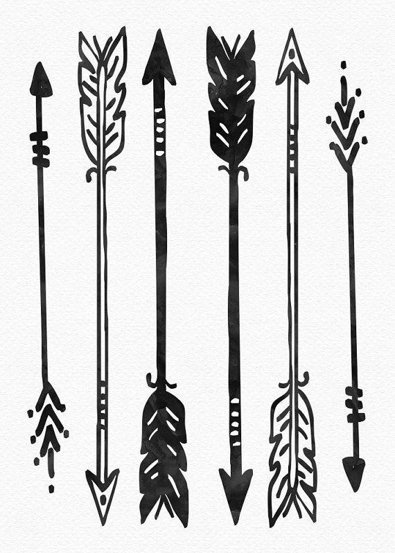 Native American Art kunst aan de muur pijl door PrintsAndPrintables