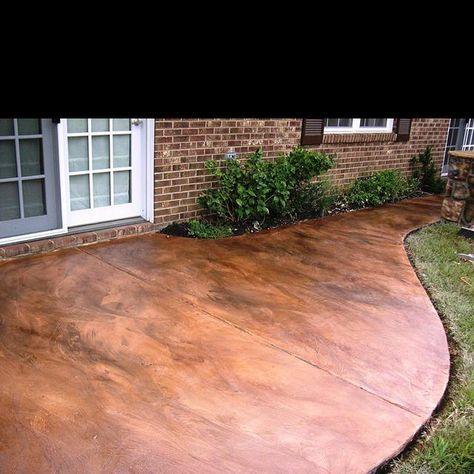 How To Acid Stain A Concrete Floor. Stain Concrete PatiosPaint ...