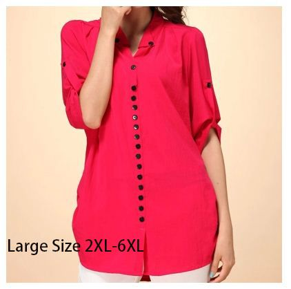 2017 Plus Size camisa feminina Slim Loose Casual Shirt Large Size Women Clothing Sheer Blouses Xxxxl 4xl 7xl Shirts