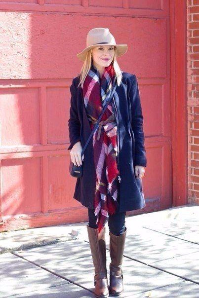 6 способов, как носить большие шарфы.