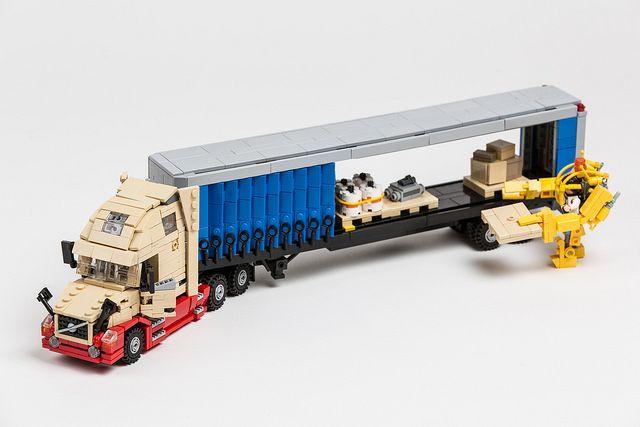 2017 Volvo Vnl 670 With 48 Curtainside Trailer Lego Creaties Lego Vrachtwagens