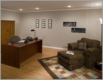basement home office | ... : From a Featureless Basement to a Home Office. © Owens Corning