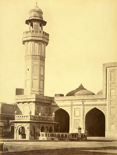Wuzeer Khans Mosque,  From the Quadrangle. Lahore -