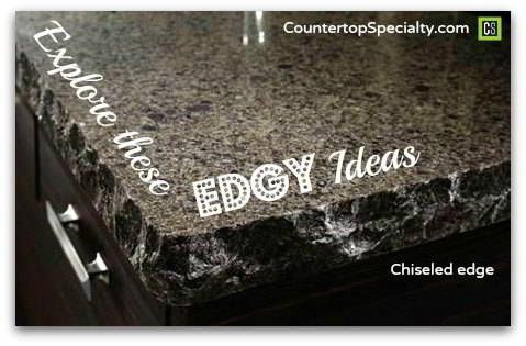 Explore ideas for countertop edges, granite edges, quartz, Silestone, Corian. Chiseled, bullnose, ogee, edge images & profiles, design & practical considerations and cost. http://www.countertopspecialty.com/countertop-edges.html