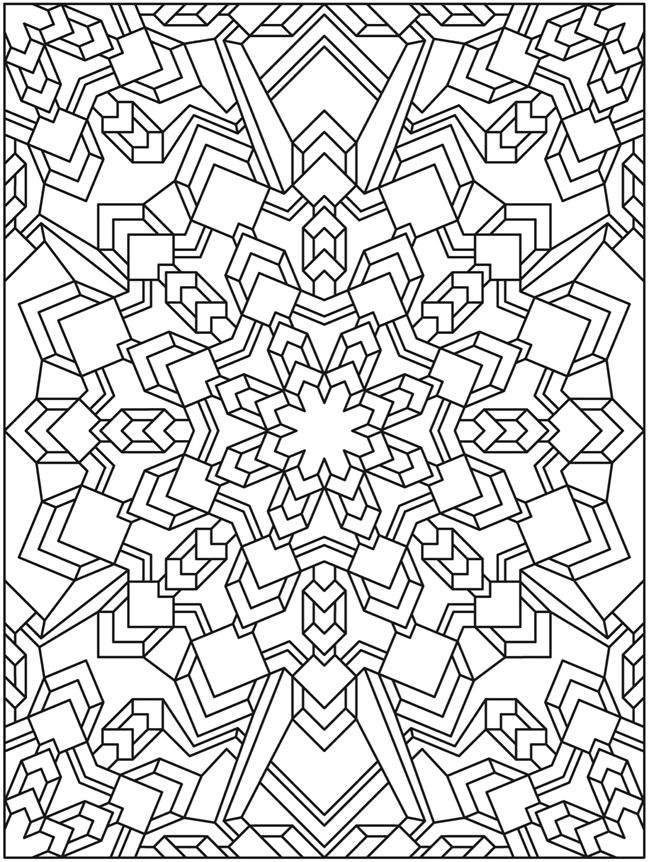 Mandala Creative Haven Madness Coloring Book Dover Publications