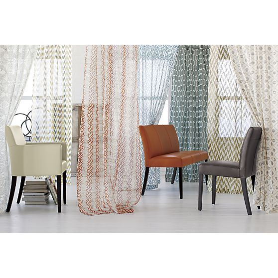 Lila Curtain Panel I Crate And Barrel Living Rooms
