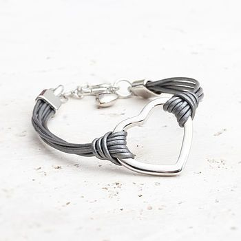 Lexi Leather Heart Bracelet
