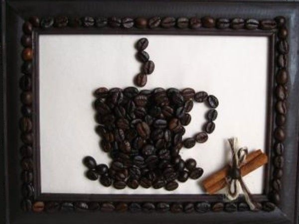The  coffee aroma comes from the picture ... Is that possible? Of course, maybe if the picture is made from coffee beans! Co