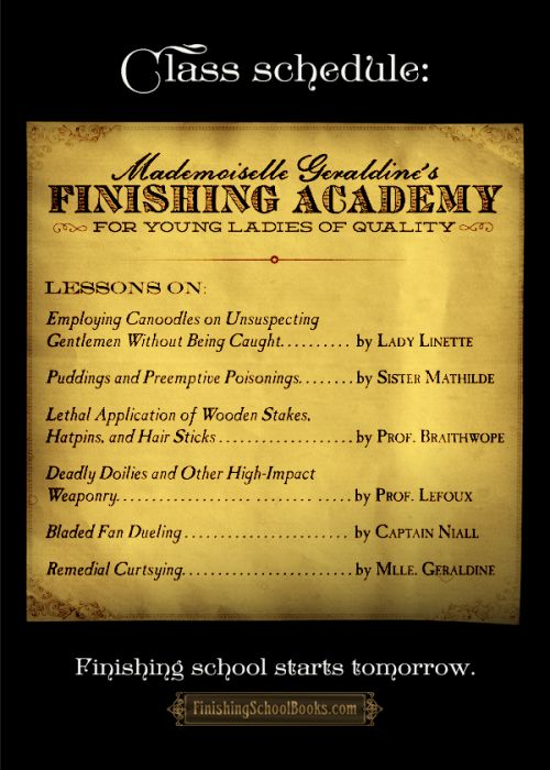 Finishing School - Book the Fourth: Manners & Mutiny arrives TOMORROW. Preview the final year here.