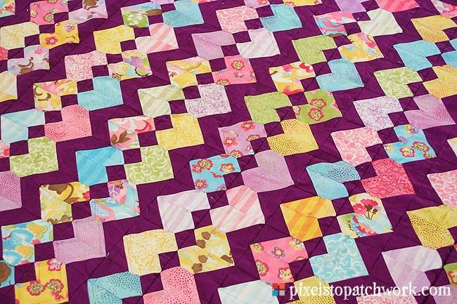 ZigZag Love from Pixels to Patchwork: July 2014