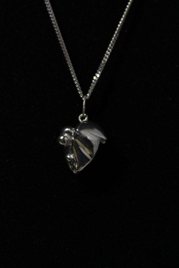 DR' / Zilver / 925 zilver / Handgemaakt / Ketting / Hart / Liefde