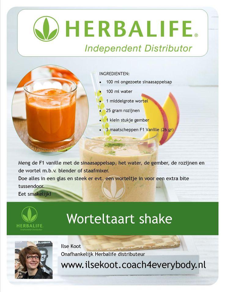 Worteltaart shake #Herbalife