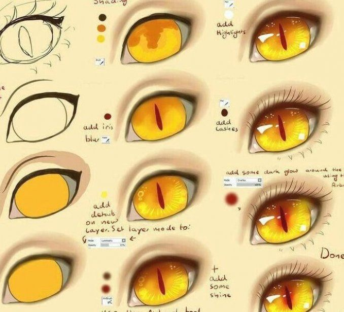 Anime Eyes Text Monster Demon How To Draw Manga Anime Howtophotoshoptodraw In 2020 Anime Eyes Cat Eye Tutorial Eye Drawing Tutorials