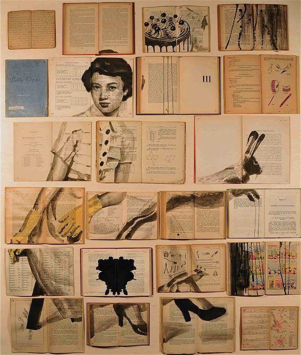 Artist Ekaterina Panikanova paints on old books. The results are extraordinary.